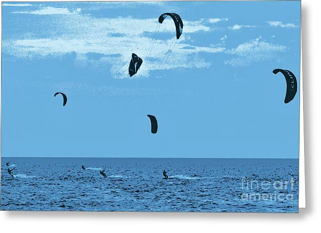 Kiteboarding On The Outer Banks Fx Greeting Card