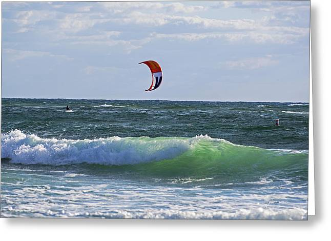 Kiteboards On Pompano Beach Florida Greeting Card by Toby McGuire