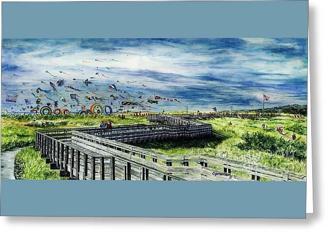 Kites Galore Greeting Card