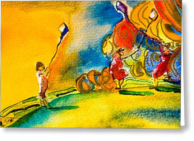 Kites On Palouse Greeting Card by Lolly Owens