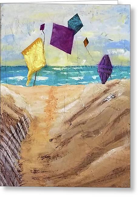 Kites On The Beach Greeting Card