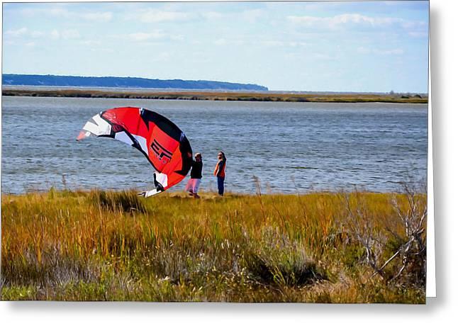 Kitesurfers 1 Greeting Card