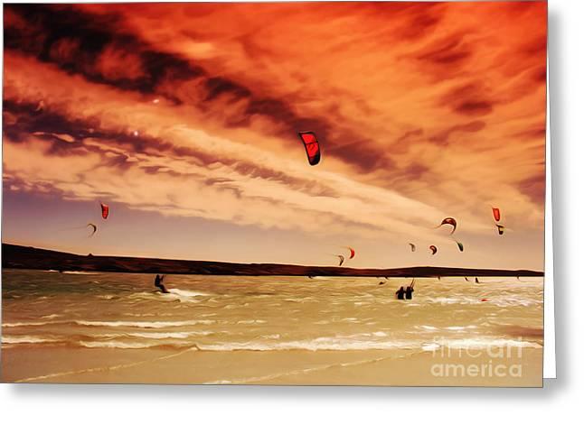 Kitesurfing Dream Greeting Card