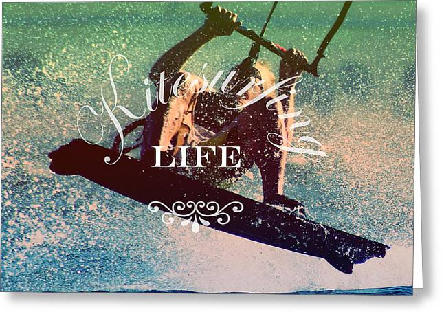 Kitesurfing Life Greeting Card by Lily Winds