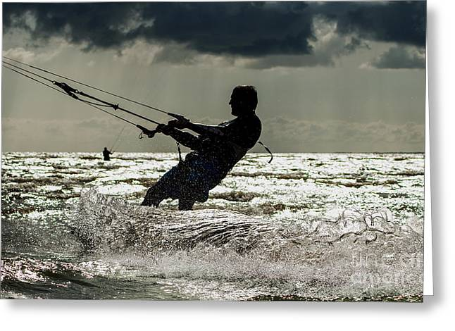 Kiting In Estonia Greeting Card by Christian Hallweger