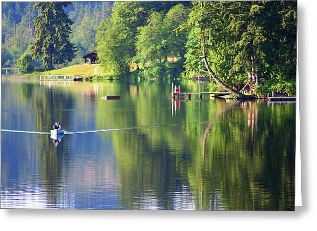 Kitsap Lake Bremerton Washington Greeting Card