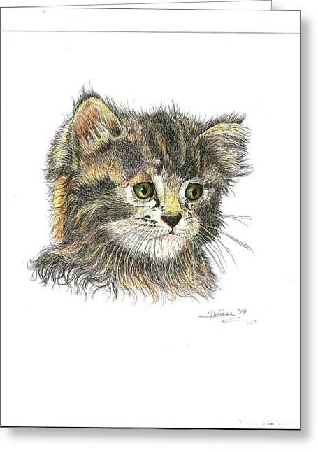 Kitten Greeting Card by Bill Hubbard