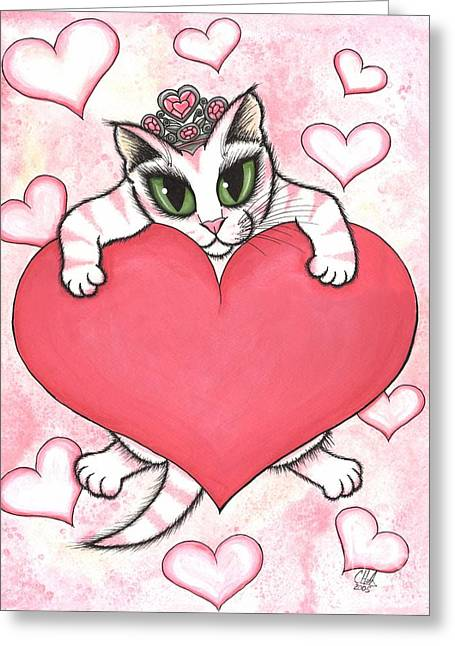 Kitten With Heart Greeting Card
