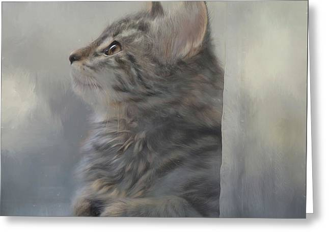 Kitten Zada Greeting Card by Kathy Russell