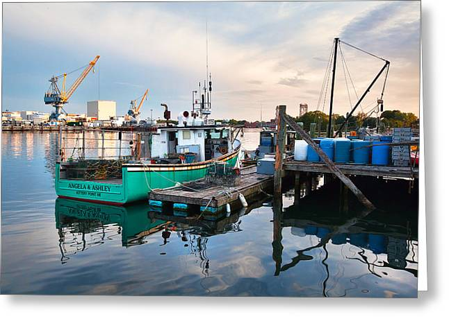 Kittery Foreside Greeting Card by Eric Gendron