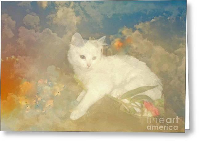 Kitty Art Precious By Sherriofpalmsprings Greeting Card by Sherri's Of Palm Springs