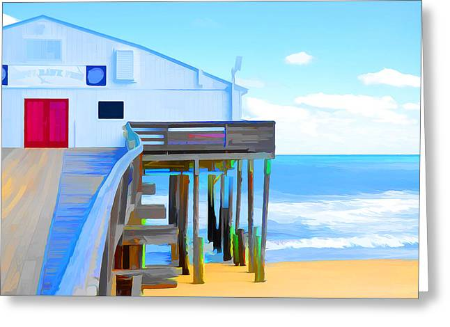Kitty Hawk Pier 2 Greeting Card by Lanjee Chee