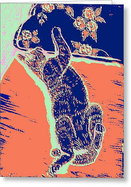 Kitty Heaven Greeting Card by Vincent Mantia