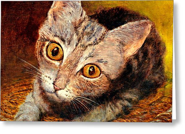 Kitty Greeting Card by Henryk Gorecki