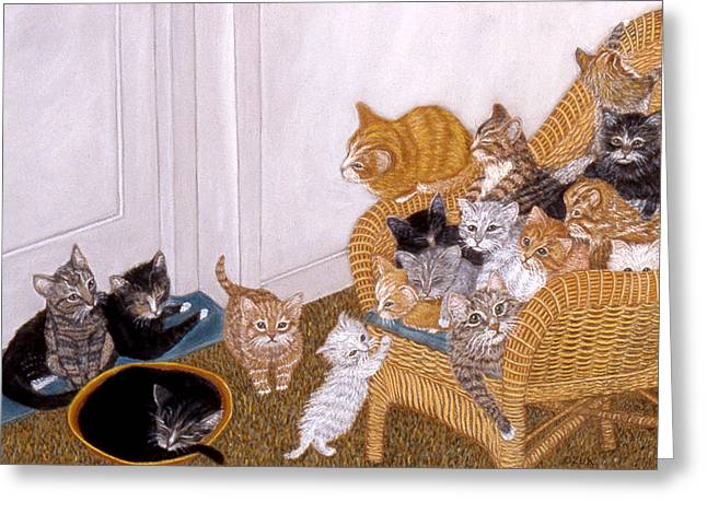 Kitty Litter II Greeting Card