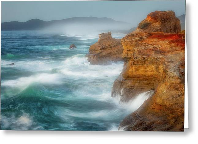 Kiwanda Mist Greeting Card by Darren White