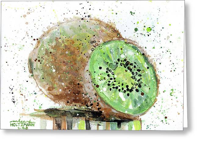 Kiwi 2 Greeting Card by Arleana Holtzmann