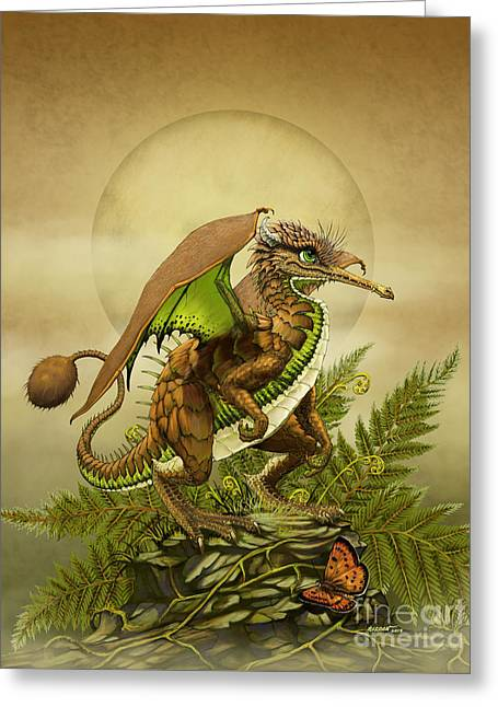 Kiwi Dragon Greeting Card by Stanley Morrison