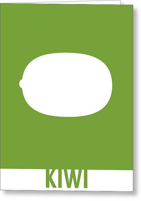 Kiwi Food Art Minimalist Fruit Poster Series 020 Greeting Card by Design Turnpike