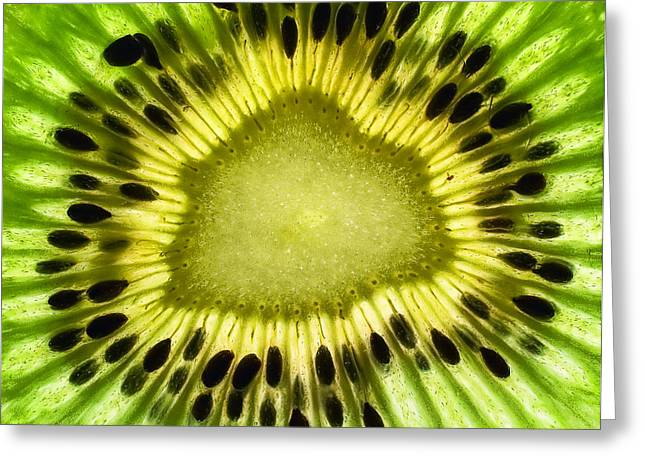 Kiwi Up Close Greeting Card by June Marie Sobrito