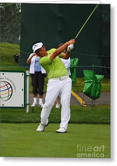 Kj Choi Pga Professional Golfer Greeting Card
