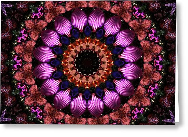 Lyle Hatch Greeting Cards - Klassy Kaleidoscope Greeting Card by Lyle Hatch