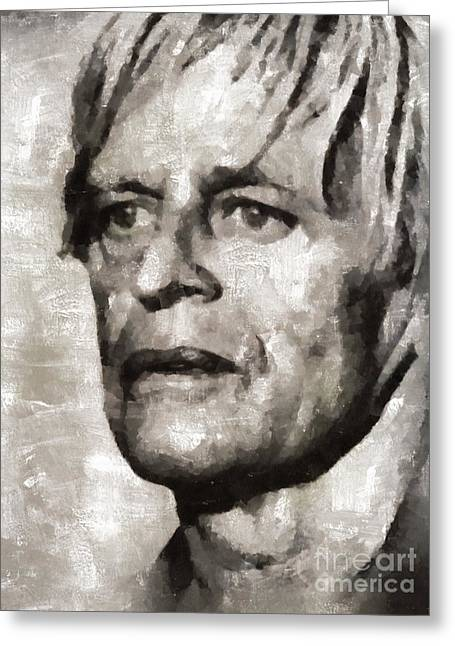 Klaus Kinski, Actor Greeting Card by Mary Bassett