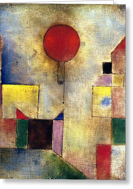 Klee: Red Balloon, 1922 Greeting Card
