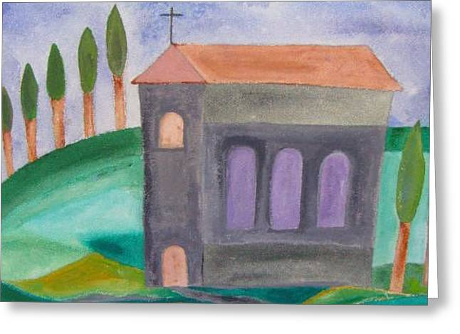 Kleine Kirche In Der Toskana Greeting Card by Michael Puya
