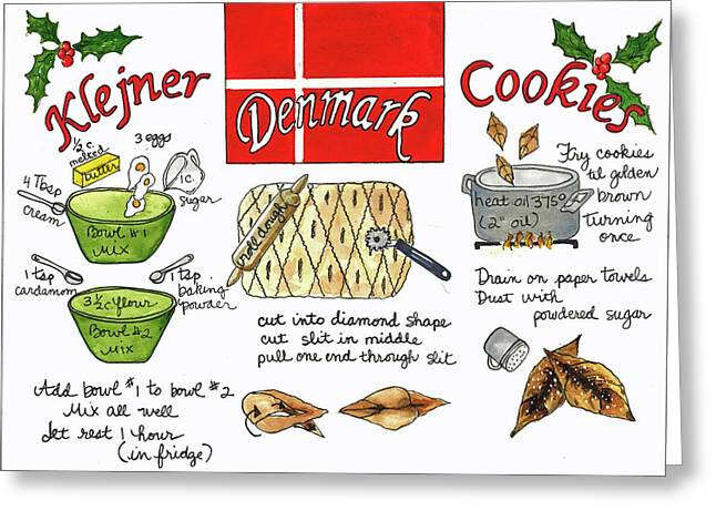 Greeting Card featuring the painting Klejner Cookies by Diane Fujimoto