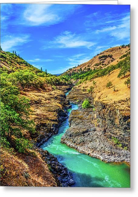 Klickitat River Canyon Greeting Card