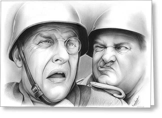 Klink And Shultz Greeting Card by Greg Joens