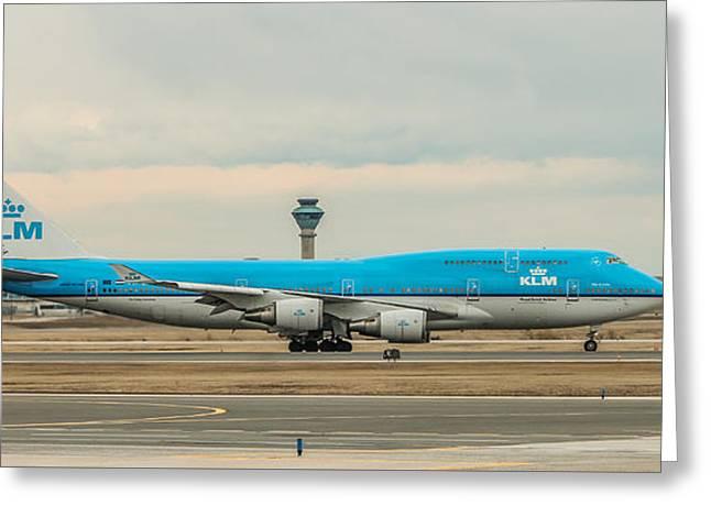 Klm Boeing 747-400 Greeting Card
