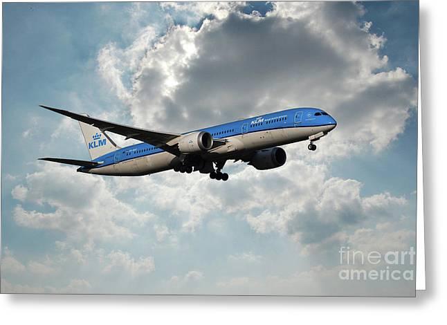 Klm Boeing 787-9 Dreamliner Greeting Card