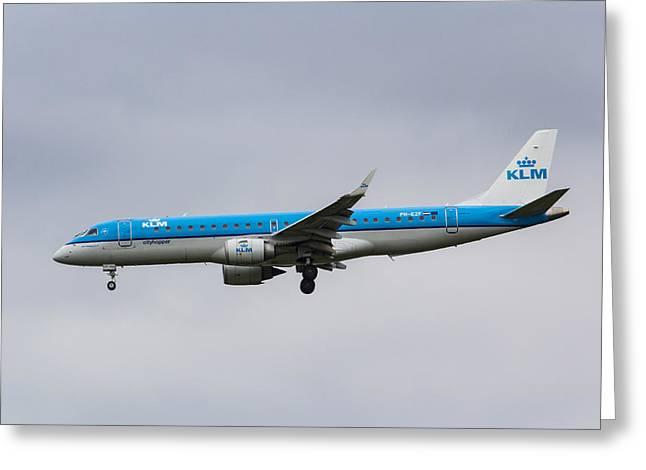 Klm Embraer 190 Greeting Card