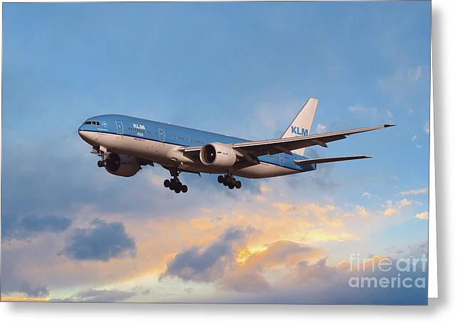 Klm Royal Dutch Airlines Boeing 777-206 Greeting Card