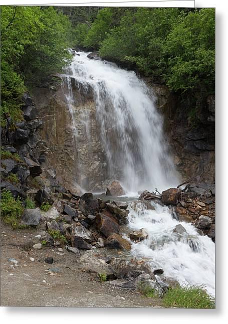 Klondike Waterfall Greeting Card