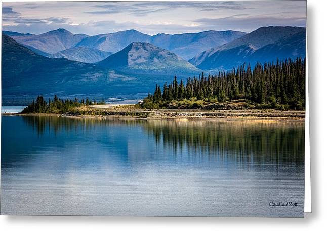 Greeting Card featuring the photograph Kluane Lake by Claudia Abbott