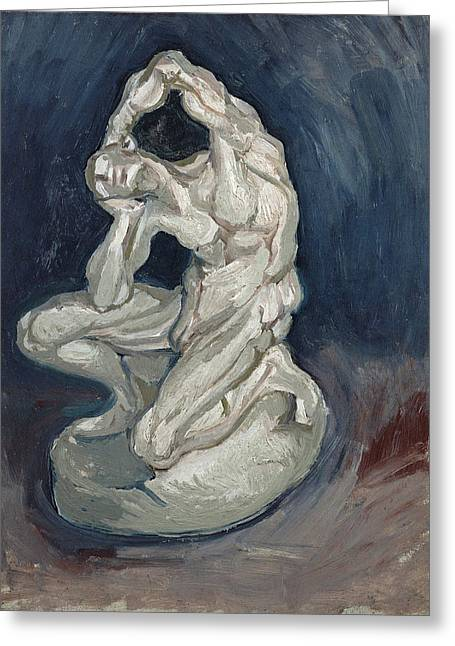 Kneeling Ecorche Greeting Card by Vincent Van Gogh