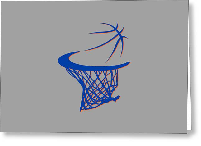 Knicks Basketball Hoop Greeting Card by Joe Hamilton