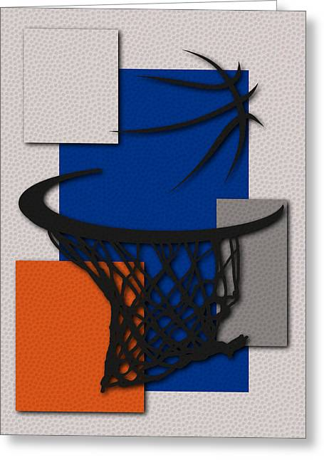 Knicks Hoop Greeting Card by Joe Hamilton