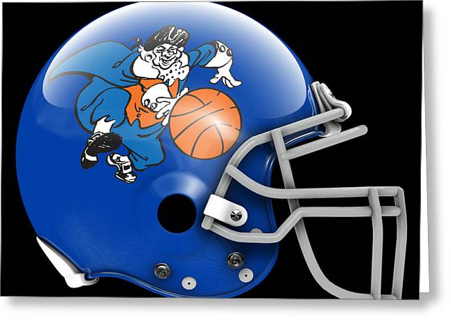 Knicks What If Its Football 2 Greeting Card by Joe Hamilton