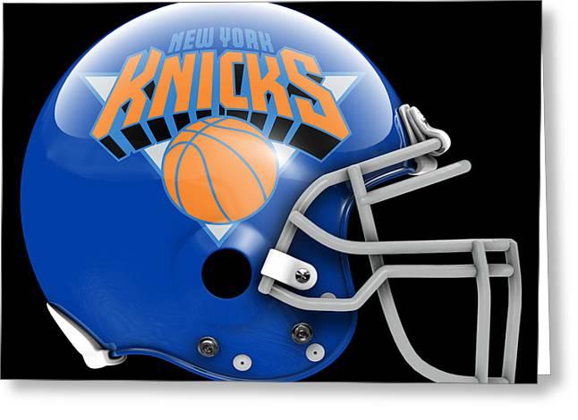 Knicks What If Its Football Greeting Card by Joe Hamilton