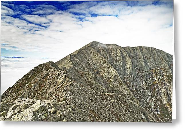 Knife Edge On Mount Katahdin Baxter State Park Maine Greeting Card by Brendan Reals