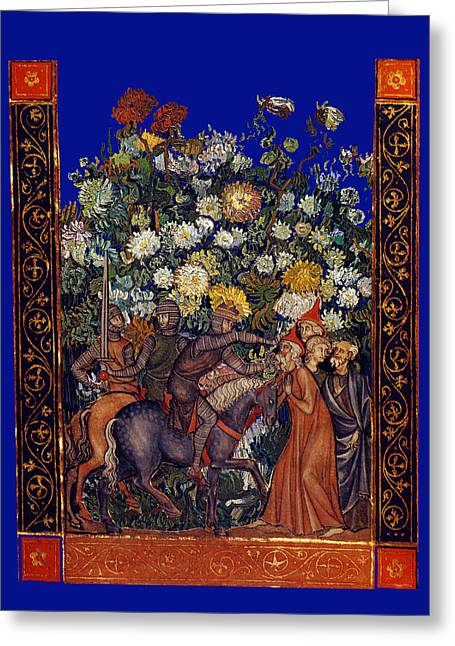 Knight Blossoms Greeting Card by John Vincent Palozzi