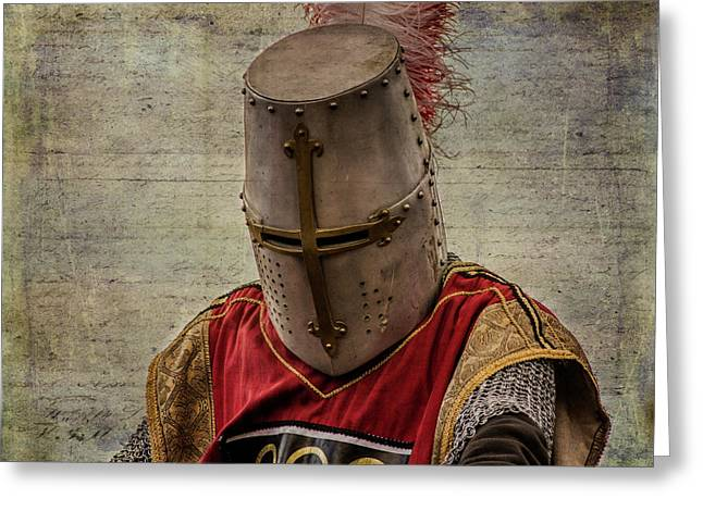 Greeting Card featuring the photograph Knight In Armor by Mary Hone
