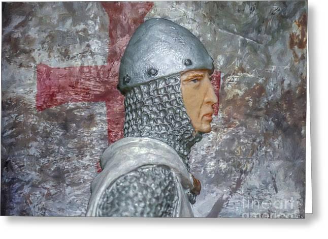 Knight Portrait Greeting Card by Randy Steele