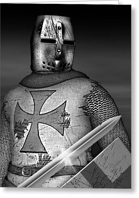 Knight Templar Greeting Card by David Griffith