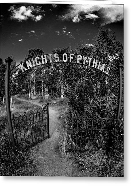 Knights Of Pythias Gate Greeting Card