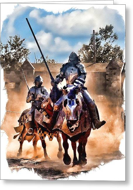 Renaissance Festival Greeting Cards - Knights of Yore Greeting Card by Tom Schmidt